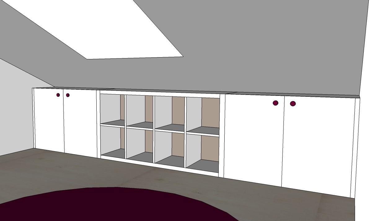 Coffre De Rangement Sous Pente chambre / bureau - le feel du bois